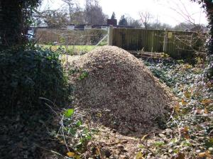One pile of chippings