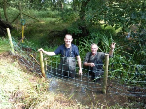Stuart and Chris with ditch fence