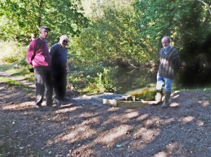 Melvyn, Andrew & Tony at Dog steps, Blackwater Meadows