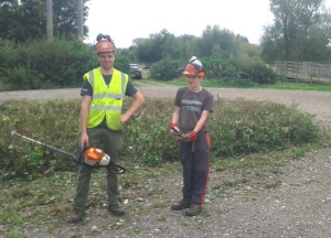 Ben and Kristian cut hedge