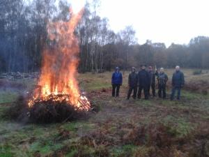 Triumphant Swiggles by roaring fire