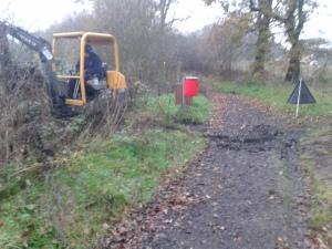Swan Lake path works - before
