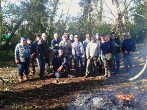 Volunteers at Blackwater Common (Stuart Croft)