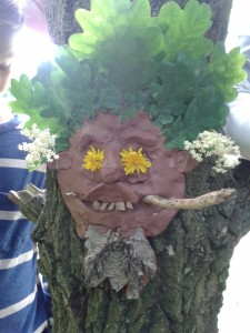 A Green Man Sculpture