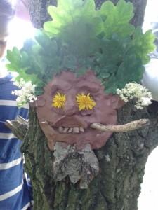 A Green Man Sculpture