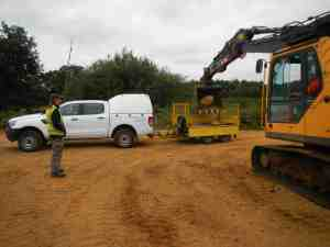 Collecting the stones from the quarry at Eversley