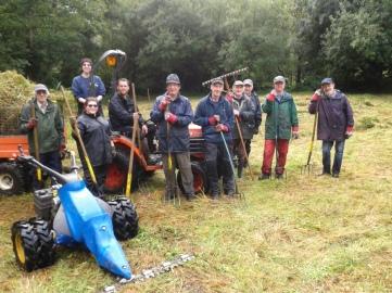 Soggy volunteers at Royal Oak Valley