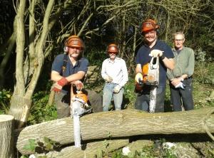 Mark, Mike, Stuart and Chris tree felling