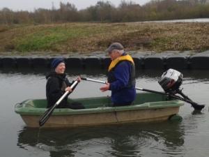 Jenny and Tony Elston boating