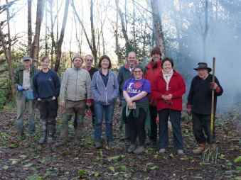 Volunteers and Jenny at Parsons Hill