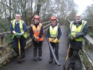 Adam Bates, Jenny, Oscar and Alan by cleared path