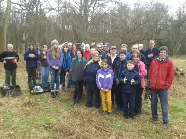 The Swiggles & RSPB volunteers