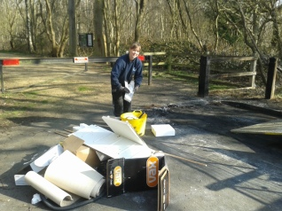 Jenny collecting fly-tipping