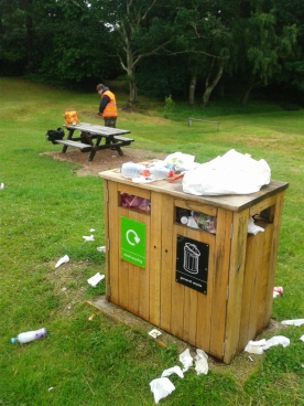 Wellington Monument rubbish