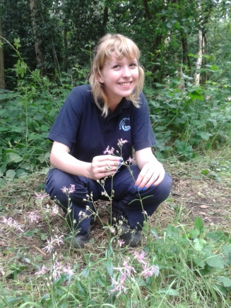 Katie with Ragged Robin