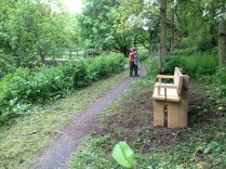 The bench as it sits on the Blackwater Valley Path