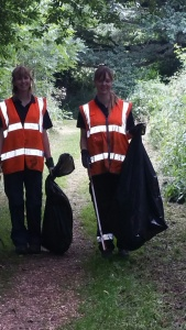 Jenny and Katie litter pick.