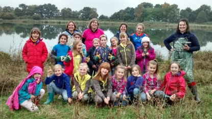 1st Shinfield Brownies joined by other groups
