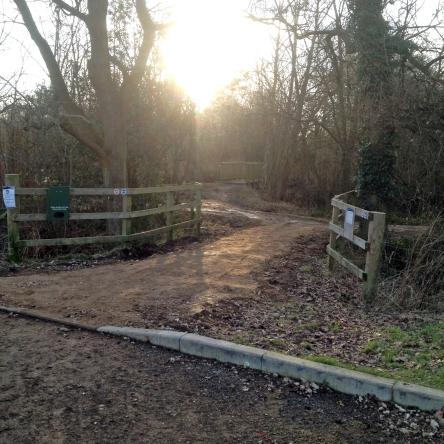Swan Lake Path entrance