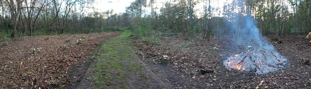 Panoramic view of finished work