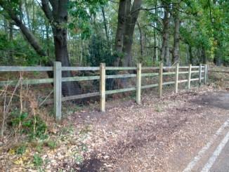Finished new sturdy fence.