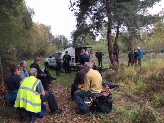 BVCP volunteers tea break Grants Moor